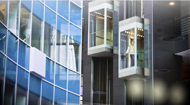 Изображение панорамного пассажирского лифта ОТИС