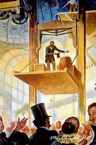 изображение прообраза пассажирского лифта Отис