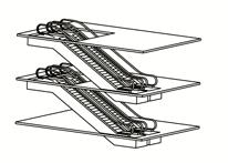 параллельный прерывистый способ размещения эскалаторов