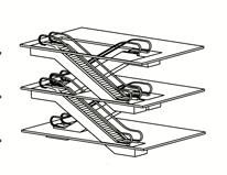 перекрестный способ установки эскалаторов