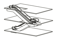 подрядный способ расположения эскалаторов