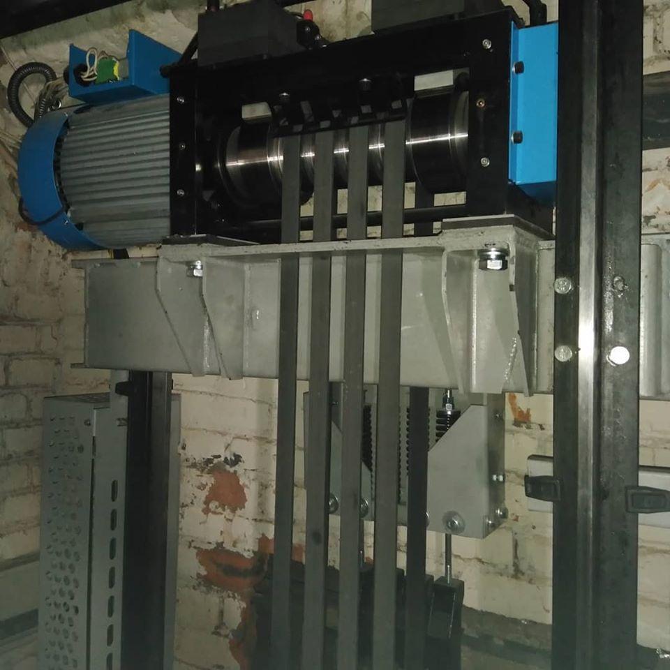 замена лифта на 1000 кг шахта