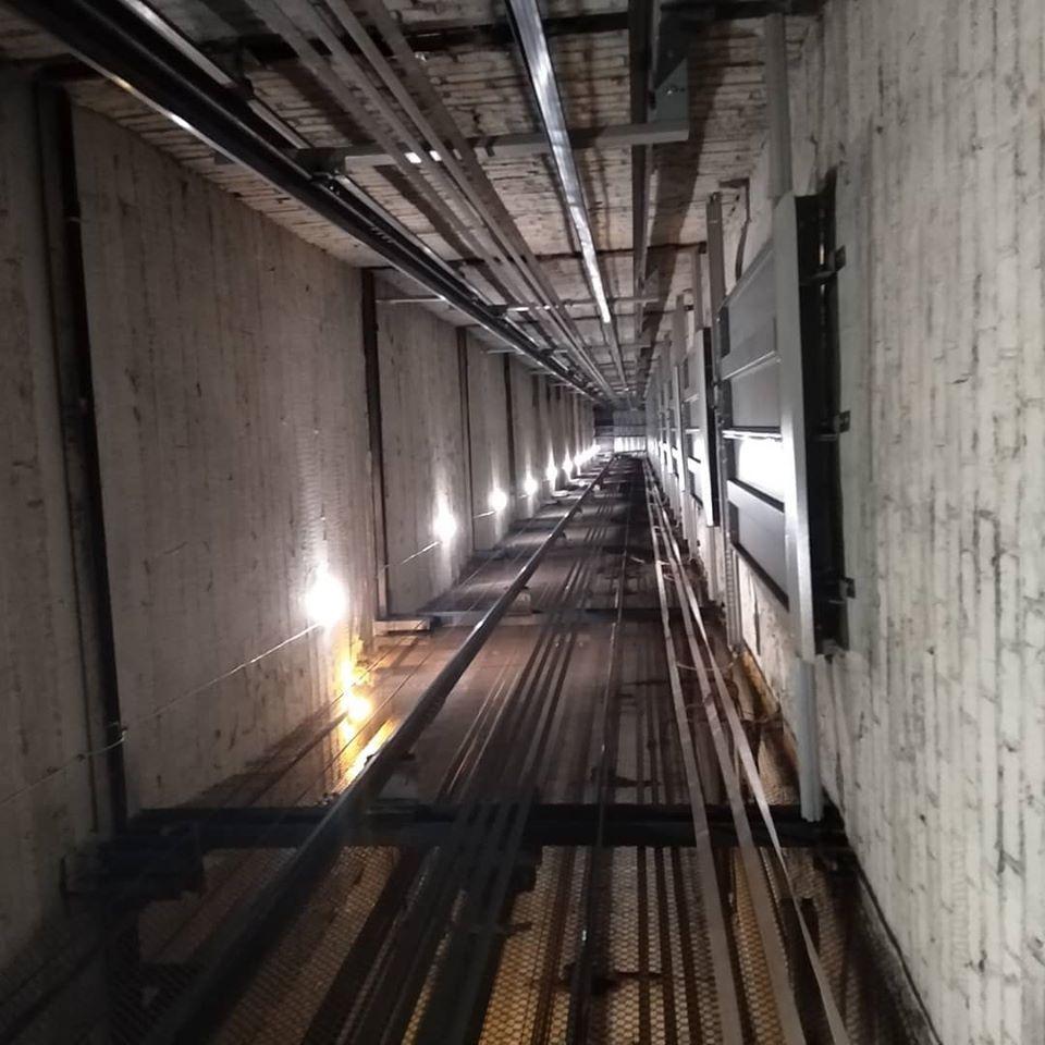 шахта лифта изнутри